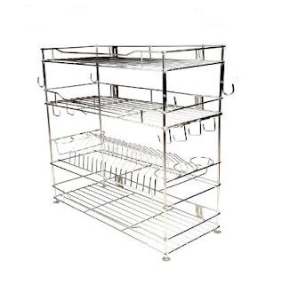 Gehwara Kitchen Rack Organiser for Utensils : (Modular Kitchen Racks and Shelves)