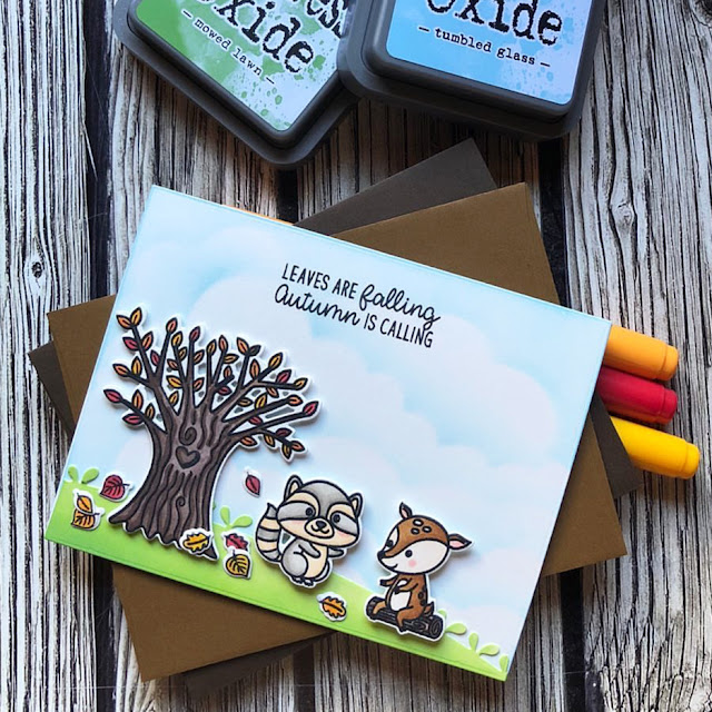 Sunny Studio Stamps: Happy Harvest Critter Campout Customer Card by Noga Shefer