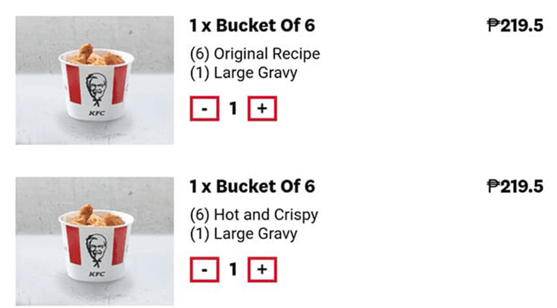 PHP 219.5 for a bucket of 6 chicken! WILD