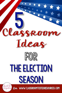 Your students can enjoy 5 different classroom ideas during the election season or even for Presidents Day.