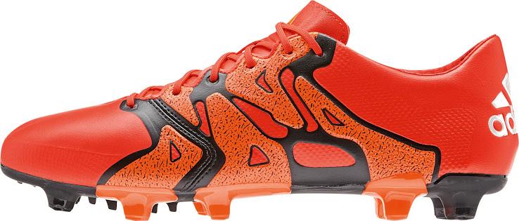 ff237fbe Fotballsko Shop Adidas X 15.1 FG AG Solar Orange Svart Rare Oransje