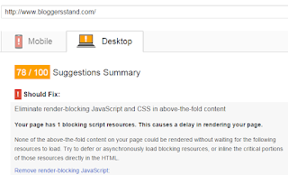 eliminate render blocking java script and css in the above fold content
