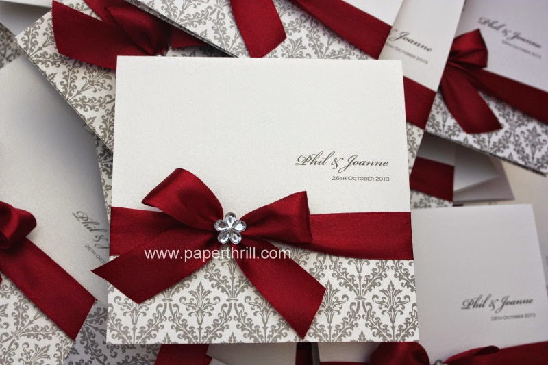 wedding invitations black white and red