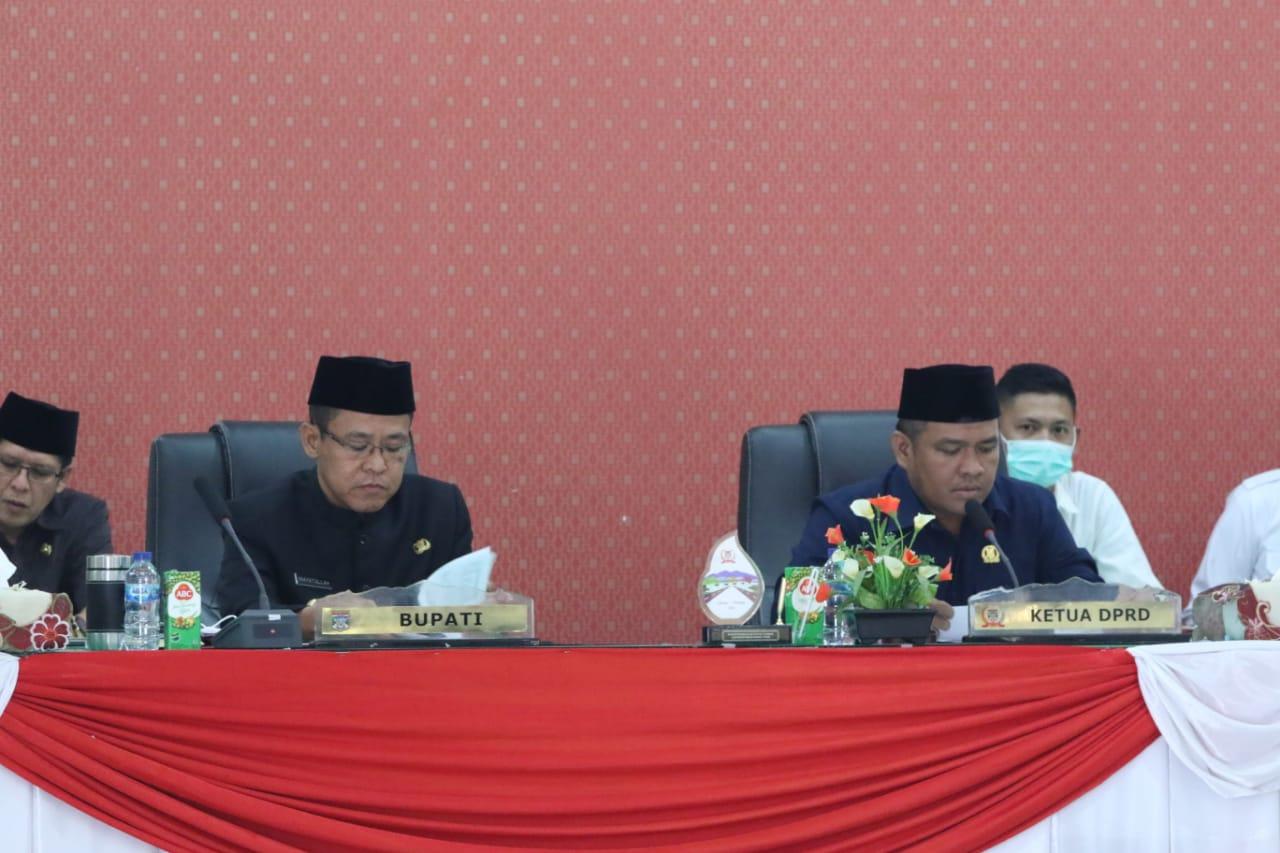 Wakil Bupati Muratara Inayatullah Dan Ketua DPRD Efriansyah. (Photo/Ist)