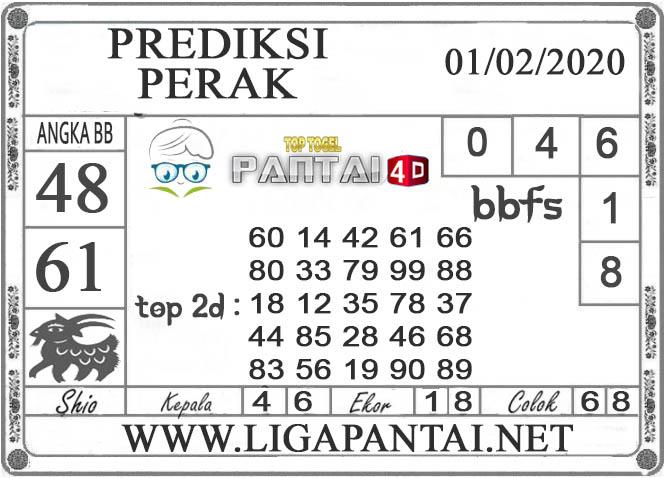 PREDIKSI TOGEL PERAK PANTAI4D 01 FEBRUARI 2020