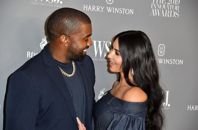 American Rapper, Kanye West Gifts His Lovely Wife, Kim Kardashian A Heavenly Hologram Of Her Late Dad
