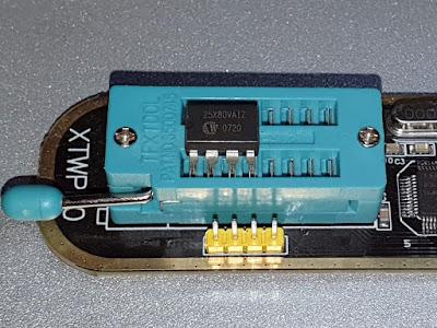 SPI Flash placement in ZIF socket with vserprog firmware