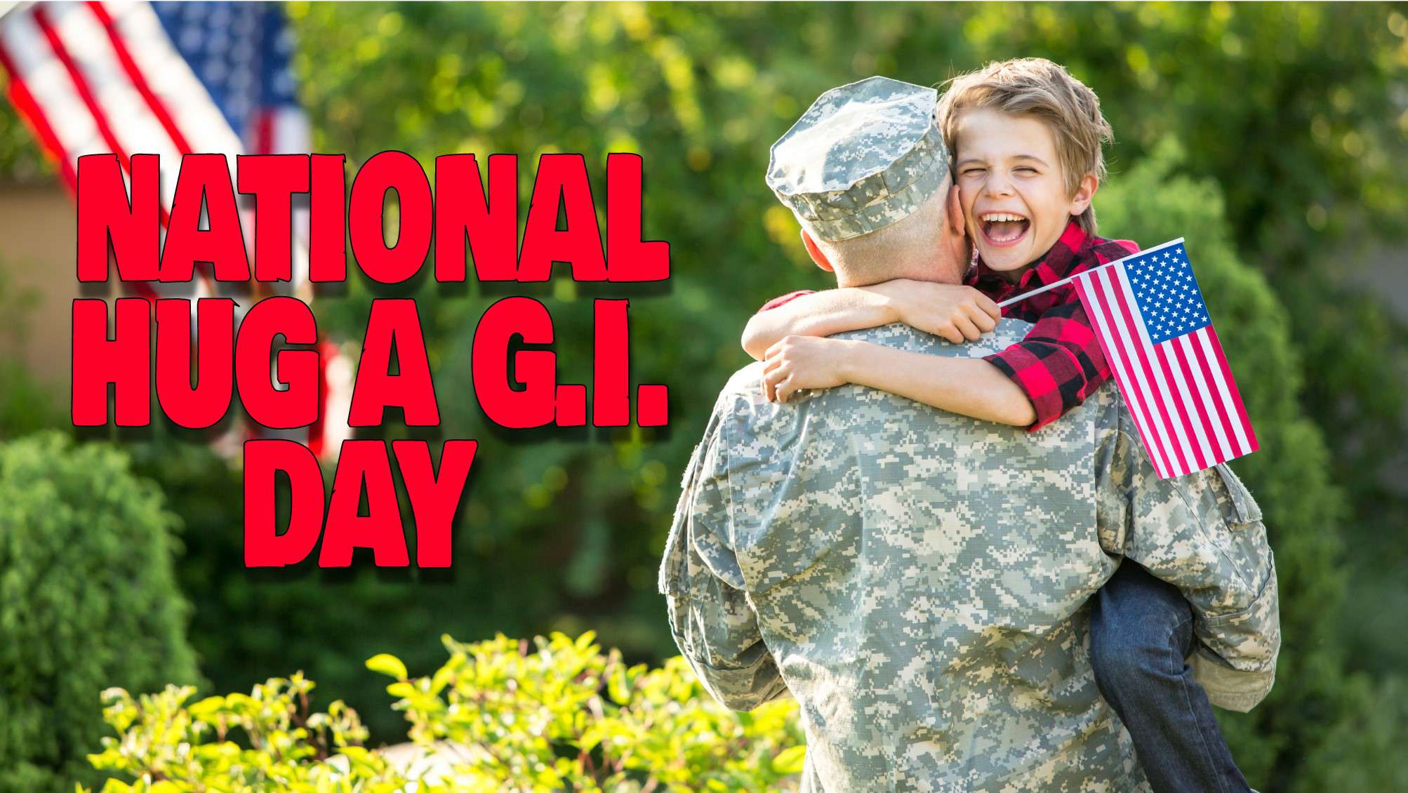 National Hug a G.I. Day Wishes Unique Image