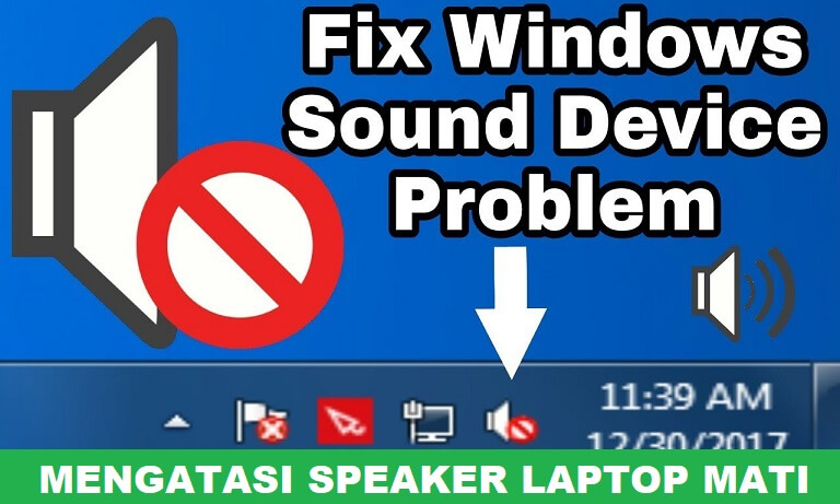 """Mengatasi Speaker Laptop Mati """"the Device Is Being Used by Another Application"""""""
