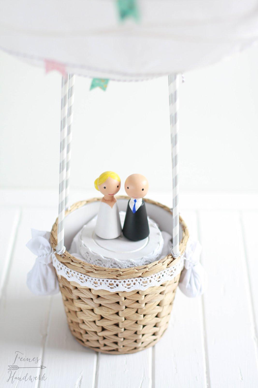 feines handwerk hei luftballon als hochzeitsgeschenk. Black Bedroom Furniture Sets. Home Design Ideas
