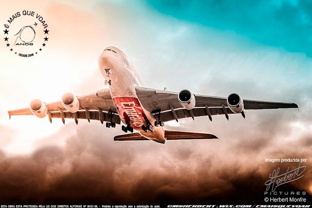 Emirates retoma voos com o Airbus A380 para Londres e Paris, adiciona Dhaka e Munique à malha de voos     Foto © Herbert Monfre - Fotógrafo de avião - Eventos - Publicidade - Ensaios - Contrate o fotógrafo pelo e-mail cmsherbert@hotmail.com   Imagem produzida por Herbert Pictures - É MAIS QUE VOAR