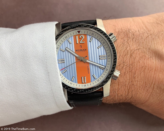 Roebuck Diviso blue orange wrist shot