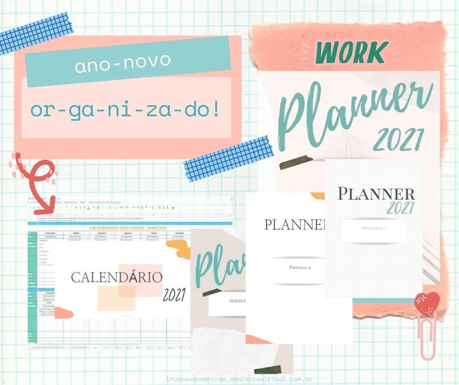 cronograma de publicação para redes sociais calendario planner 2021