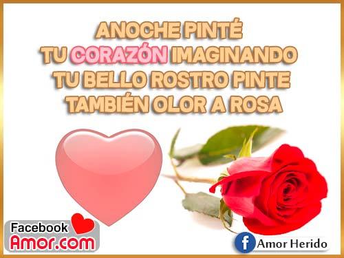 rosa y corazones de amor