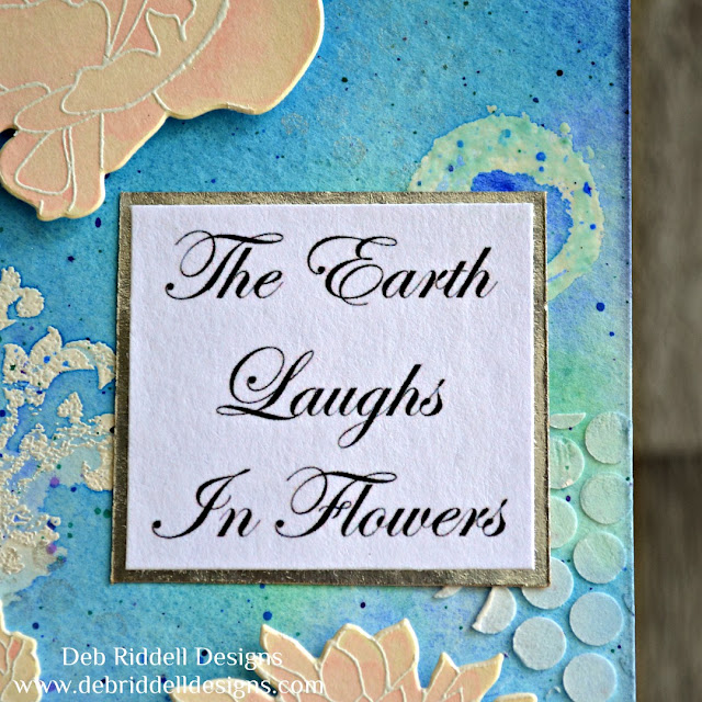 The Earth Laughs In Flowers Watercolour Tag Detail
