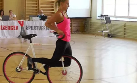 What This Girl Can Do With A Bicycle Completely Blew My Mind…How?
