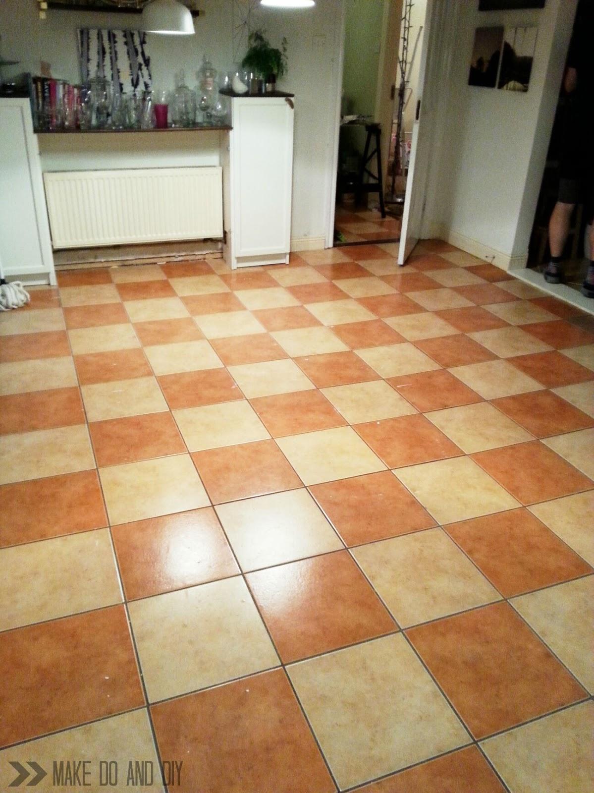 painted tile floor
