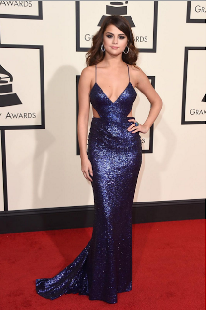 Selena Gomez prom dress grammys