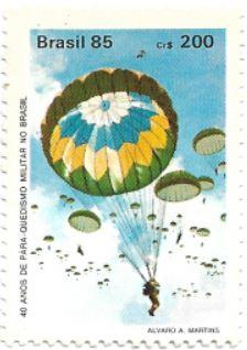 Selo 40 Anos do Paraquedismo Militar
