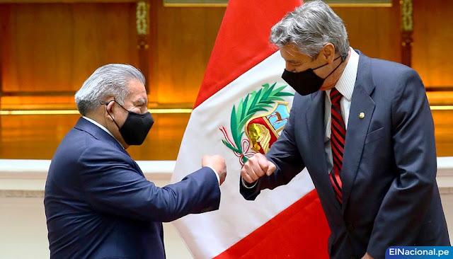 César Acuña y presidente Sagasti