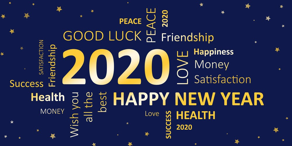 Happy, 2020 New Year, Words Quote
