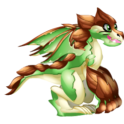 Appearance of Bark Dragon when teenager