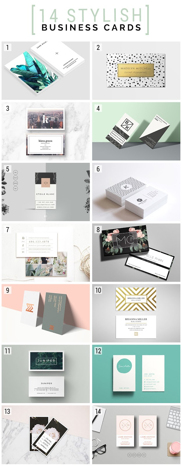 stylish, classy, trendy business cards designs