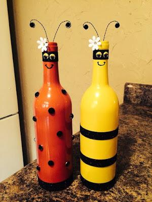 Garrafas decoradas com pintura
