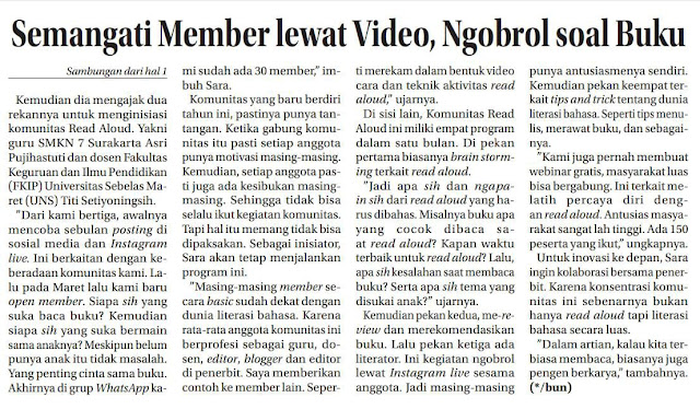 PEGIAT LITERASI BAHASA KOTA SOLO JAWA TENGAH INDONESIA