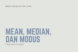 Cara mencari Mean, Median, dan Modus pada data tunggal