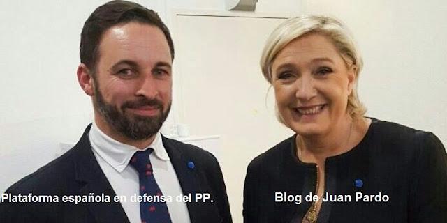 Marine Le Pen, advierte: España tendrá muchos problemas con VOX, su marcado interés bélico y su trabajo sucio en favor de Cs les definen.