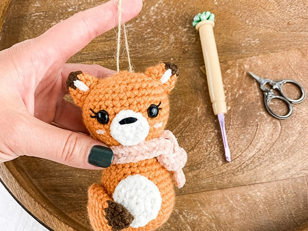 Free Crochet Fox Ornament Pattern