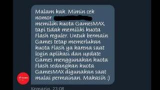 GamesMAX Telkomsel tidak bisa masuk game