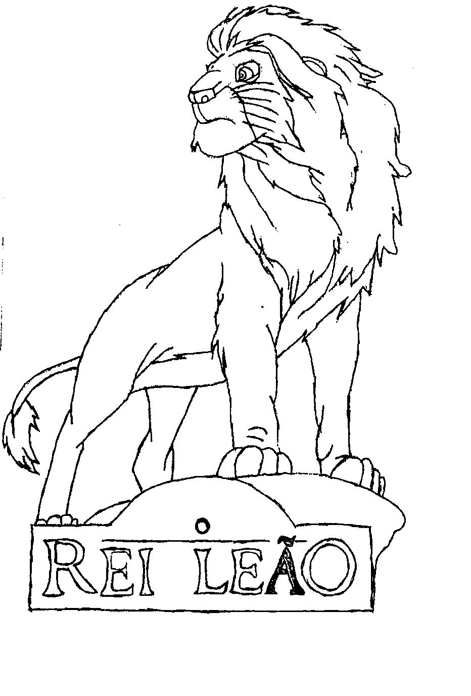 Desenhos Do Rei Leao Para Colorir E Imprimir Desenhos