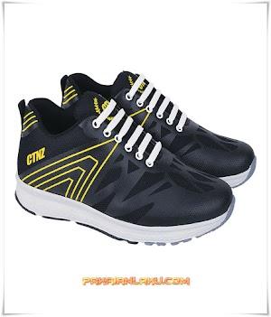Sepatu Sport Pria Warna Hitam Keren