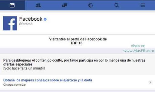 Desbloquear contenido oculto para ver quién visita Facebook - MasFB