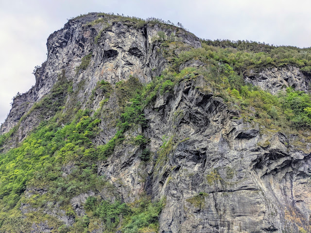 Face in the rocks on Geirangerfjord