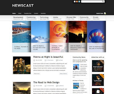 Newscast Blogger Template