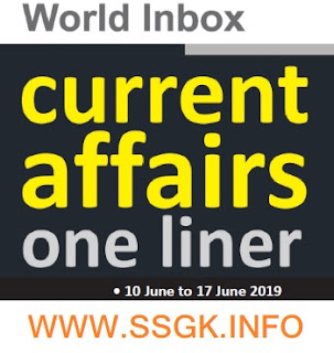 WORLD INBOX CURRENT AFFAIR (10 JUNE TO 17 JUNE)