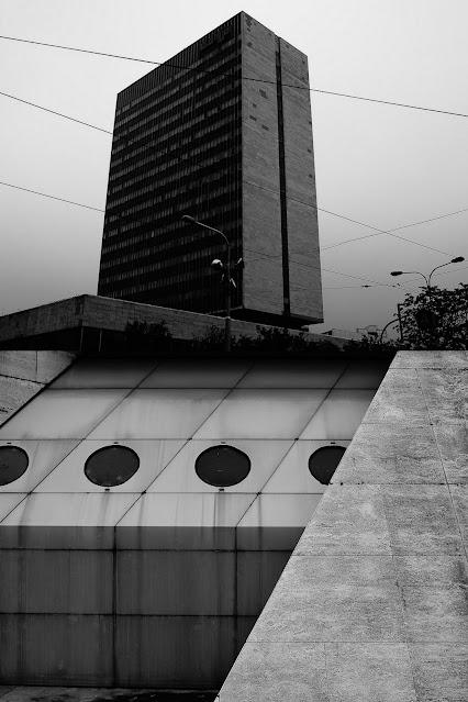 """Nadfotograficzny obraz miasta - Bratysława - Szklane domy. """"Szklane domy"""". fot. Łukasz Cyrus, 2018."""
