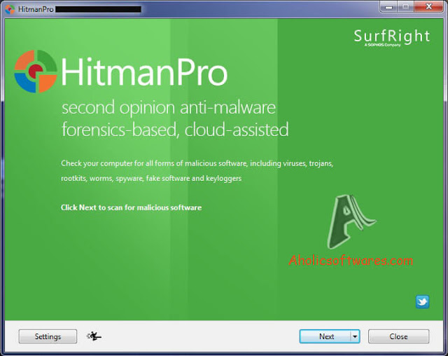 HitmanPro is a second opinion scanner, designed to rescue your computer from viruses, trojans, rootkits, etc.