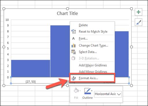 انقر بزر الماوس الأيمن فوق محور التخطيط الخاص بك وانقر فوق تنسيق المحور لتحرير مجموعات البيانات الخاصة بك