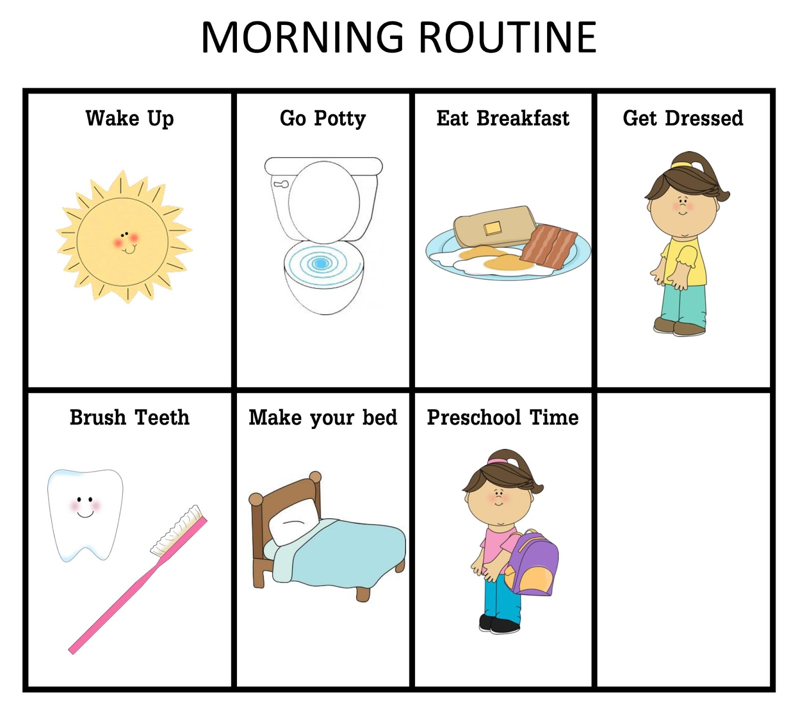 Ourhomecreations Printable Morning And Nightime Routine
