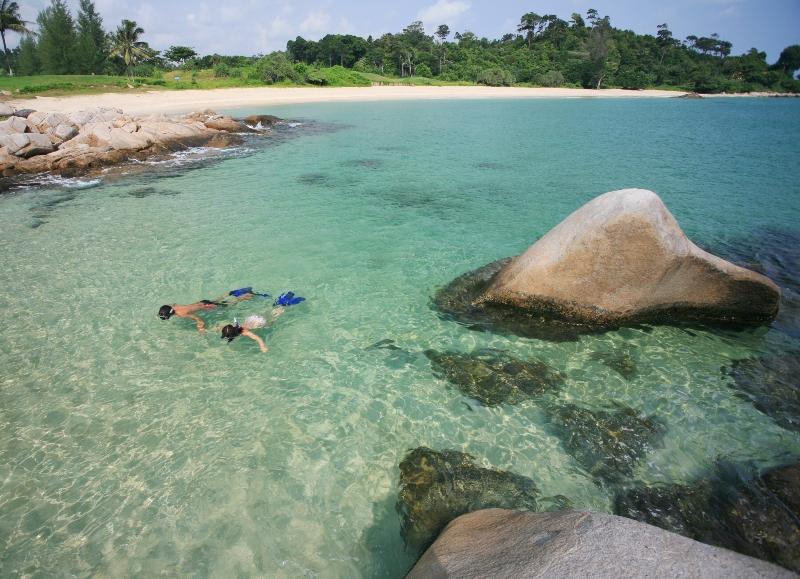 singapore getaway bintan lagoon resort snorkelling