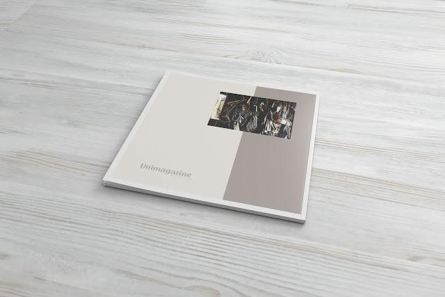 Square magazine mockup download