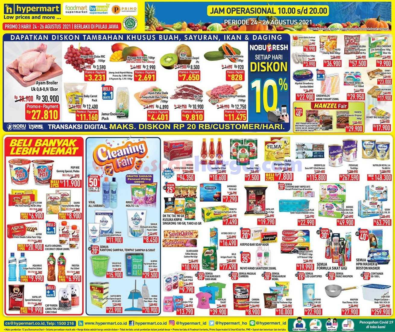 Katalog Promo Hypermart Weekday Terbaru 24 - 26 Agustus 2021