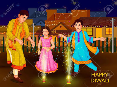 diwali images cartoon