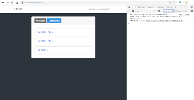 Belajar Laravel - Cara Menampilkan Data di Database dengan VueJS