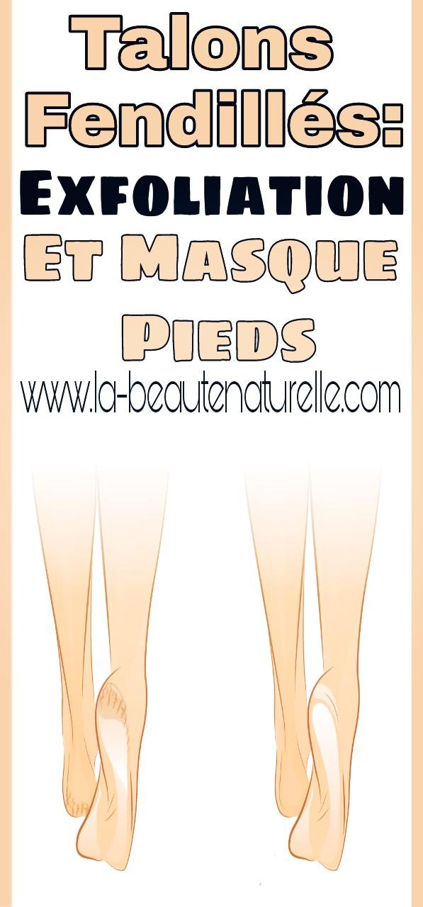 Talons fendillés: Exfoliation et masque pieds