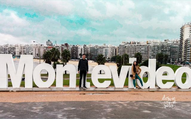 Letreiro da cidade de Montevideo